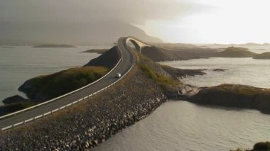 Storseisundbrua bridge The Atlantic road — ストックビデオ