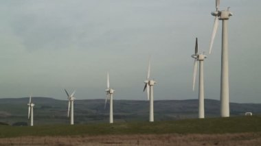 Wind Farm in Wales — Stock Video
