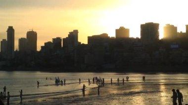 Chowpatty Beach Mumbai — Stock Video
