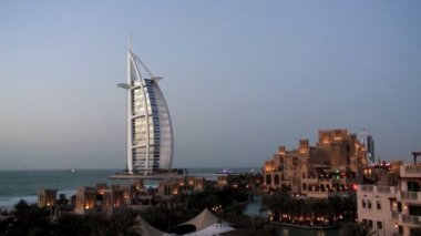 Burj Al Arab Hotel Dubai — Stockvideo
