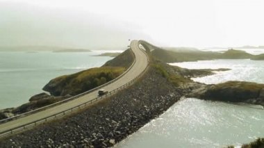 Storseisundbrua bridge The Atlantic road — Vídeo de stock