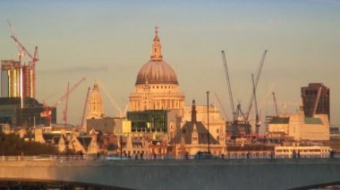 St. Paul's Cathedral in London — Stock Video
