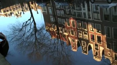 Reflections of Amsterdam — Stock Video