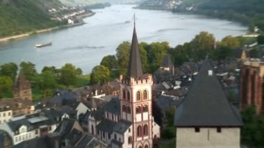 View over Bacharach — Stock Video