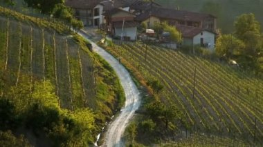 Landscape view over Piedmont — Stock Video