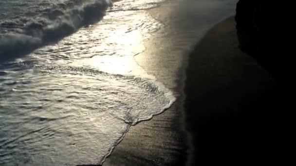 Black beach near Vik Iceland — Vidéo