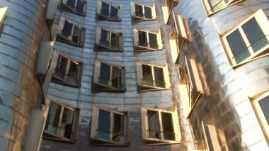 The Neuer Zollhof building — Stock Video