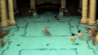 Spa baths in Budapest — Stock Video