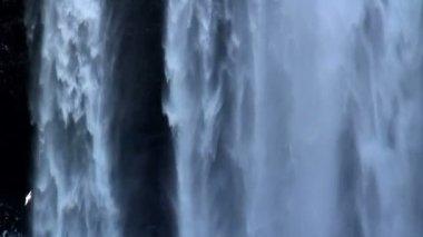 Skogafoss waterfall close up — Stock Video