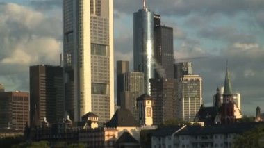 Financial City of Frankfurt — Stockvideo