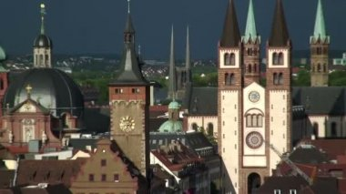 Baroque old town in Germany — Stock Video