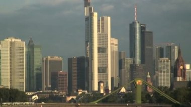 The financial City of Frankfurt — Stockvideo
