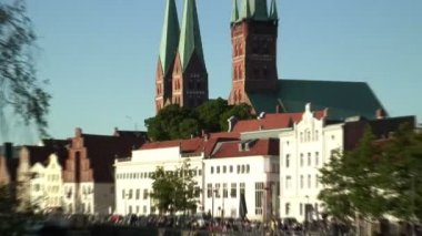 Lubeck old town in Germany — Stock Video