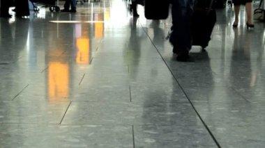 Passengers at Heathrow Airport — Stock Video
