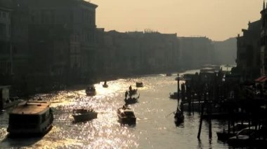 Grand Canal and gondolas — Stock Video