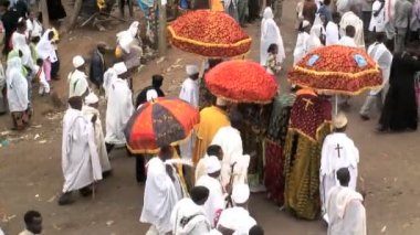 Procession of Timket celebration — Video Stock