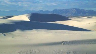Monumento nacional de arenas blancas — Vídeo de stock