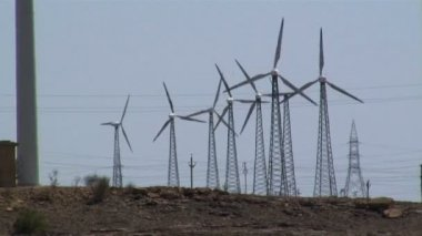 Wind power and energy — Vídeo stock