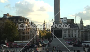 Trafalgar square in londen — Stockvideo