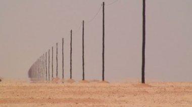 Desert poles in Namid Desert — Stock Video