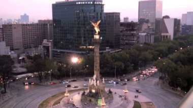El Angel Independence Monument — Stock Video