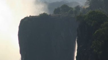 Famous Victoria Falls — Stockvideo