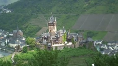 Cochem Castle in Germany — Stock Video