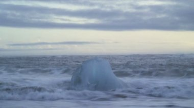 Frozen sea ice — Vídeo de Stock