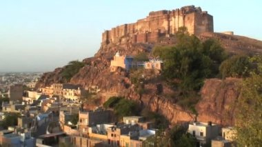 Mehrangarh Fort in India — Stock Video