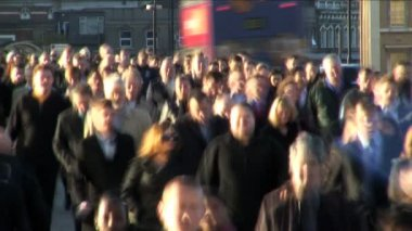 Crowd of Business people — Stock Video