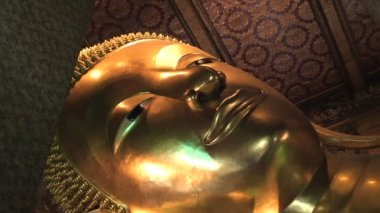 Reclining Buddha Wat — Stok video