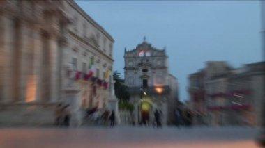 Piazza del Duomo in Italy — Stock Video