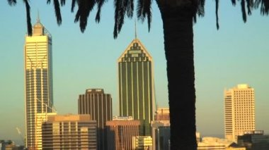 Cityscape view of Perth — Stockvideo