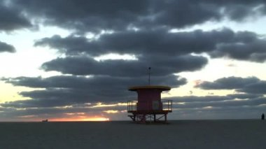 Lifeguard Station in Miami — Stock Video