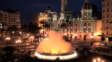 Plaza del Aguntamiento — Stock Video