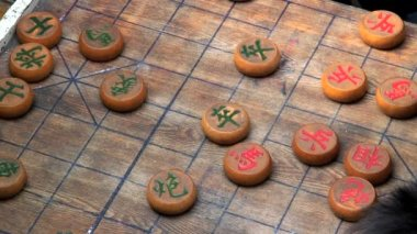 Chinese checkers board game pieces — Stock Video