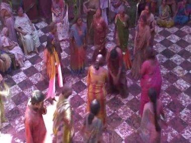 Holi Festival nr Mathura Celebrations — Stock Video
