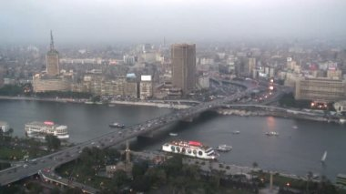 Aerial City View of Cairo Egypt — Stock Video