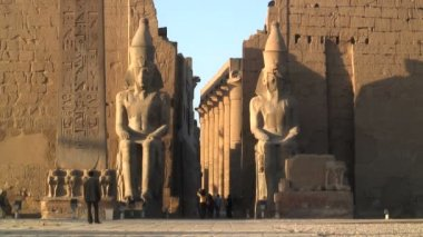 Temples of Karnak Luxor Egypt — Stock Video