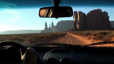 Three sisters Monument Valley Arizona — Stock Video