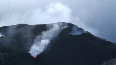 Stromboli Volcano in Italy — Stock Video