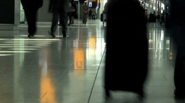 Passengers at Heathrow Airport — Stock Video