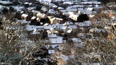 Wotton village in winter snow — Stockvideo