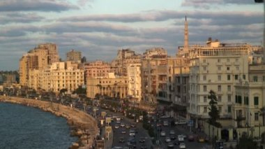 View to the City of Alexandria — Stockvideo