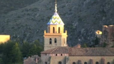 Belltower in Aragon — Stock Video