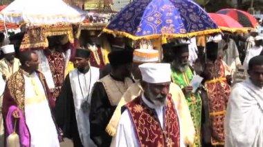 Procession of Timket celebration — Wideo stockowe