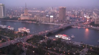 Aerial City View of Cairo Egypt — Vídeo de stock