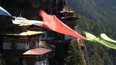 Taktsang Dzong monastery — 图库视频影像