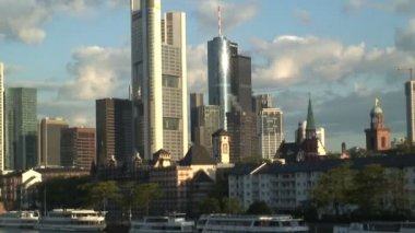 Financial City of Frankfurt — Vídeo de stock