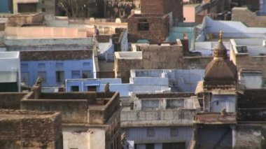 Traditionally built homes in India — Stockvideo